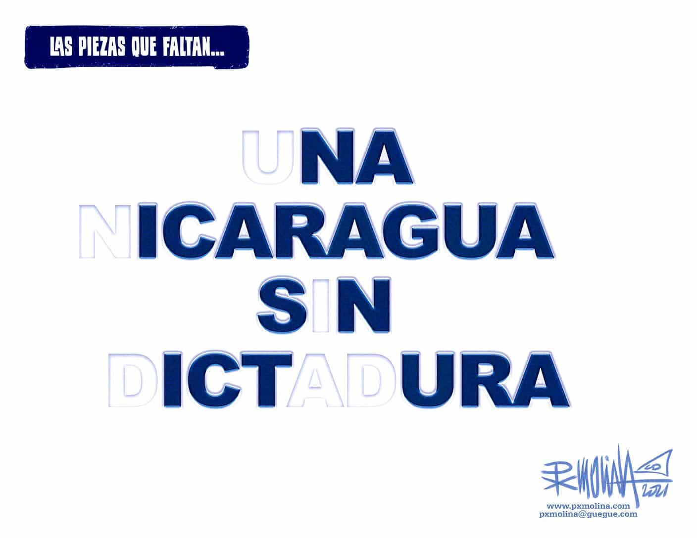 Elocuente caricatura de Pedro Molina sobre el desafío actual de la oposición nicaragüensefío actual deJuntar la mayor cantidad de fuerzas posibles en la lucha contra la dictadura es el desafío del momento